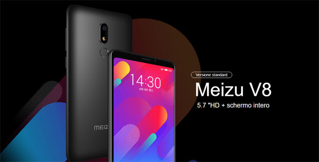 Foto Meizu V8 e V8 Pro ufficiali con display 5.7 HD senza notch