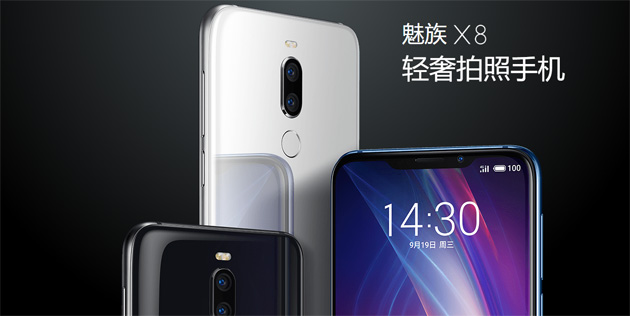 Foto Meizu X8 ufficiale con Snapdragon 710, dual camera e notch