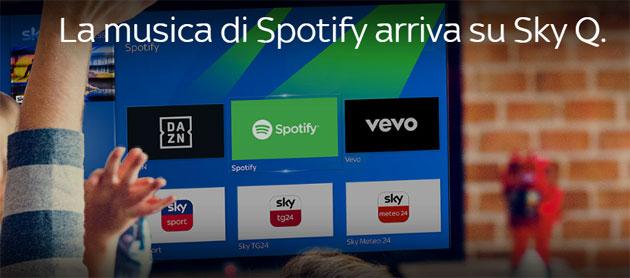 Spotify e DAZN su Sky Q ora disponibili