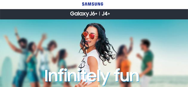 Foto Samsung Galaxy J6 Plus e  J4 Plus ufficiali con Infinity Display 6 HD e CPU quad-core