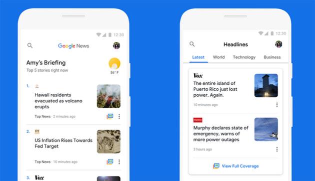 Google News migliora per risparmiare dati sui dispositivi economici e reti lente