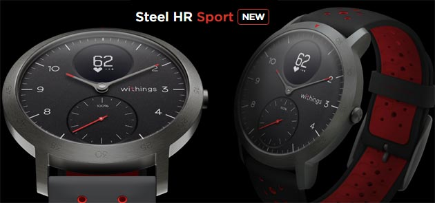 Foto Withings Steel HR Sport, smartwatch ibrido con quadrante analogico e display OLED