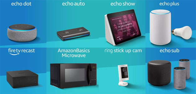 Foto Amazon annuncia Echo Dot 3, Echo Plus 2, Echo Show 2, Echo Auto, Echo Sub, Echo Input, Echo Link, Fire TV Recast, Echo Wall Clock