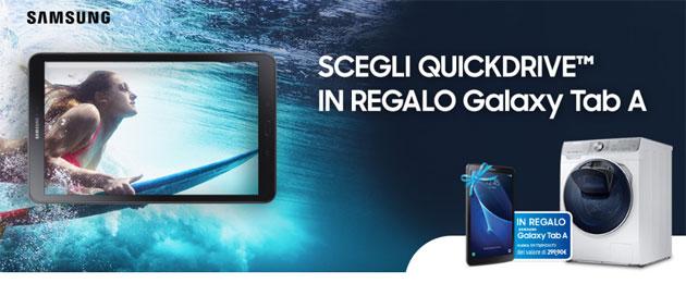 Samsung QuickDrive regala tablet Tab A 10.1 LTE