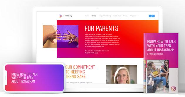 Instagram aiuta i genitori di adolescenti che usano la piattaforma a meglio gestire privacy, sicurezza e tempo speso su Instagram