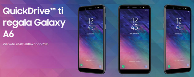 Foto Samsung QuickDrive regala Galaxy A6