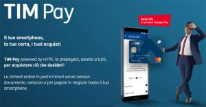 TIM Pay con carta prepagata, pagamenti contactless e supporto in Apple Pay e Google Pay