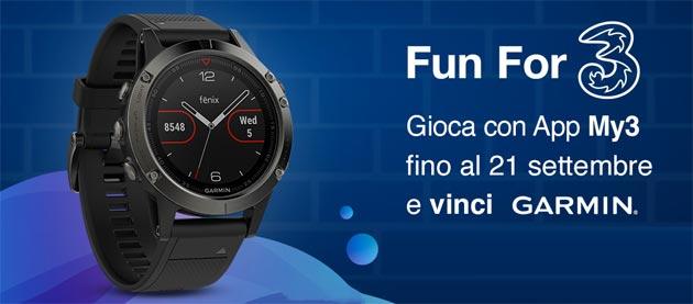 3 Italia regala Garmin fenix 5 con My3: oggi ultimo giorno per provare a vincere