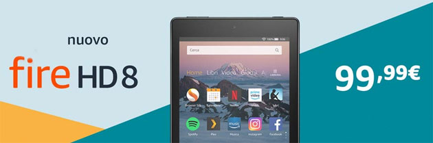 Foto Amazon Fire HD 8 2018 con processore quad-core e Dolby Atmos