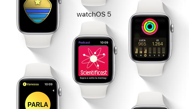 Foto Apple watchOS 5.1.1 disponibile, Novita' e come aggiornare Apple Watch