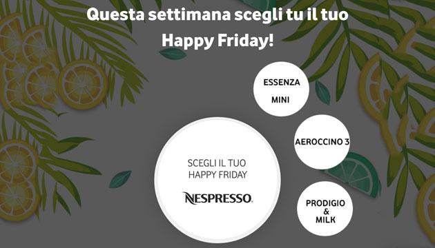 Vodafone Happy Friday il 14 settembre regala sconti Nespresso