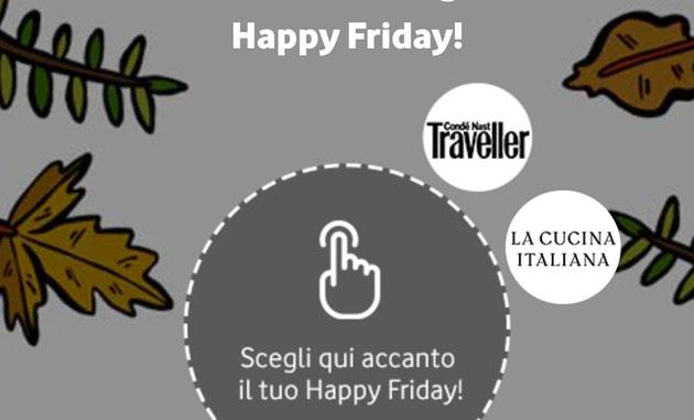 Vodafone Happy Friday il 12 ottobre regala un anno della rivista La Cucina Italiana o Traveller in digitale