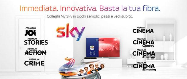 Sky via Fibra e TIM-Sky, canali Premium ora disponibili