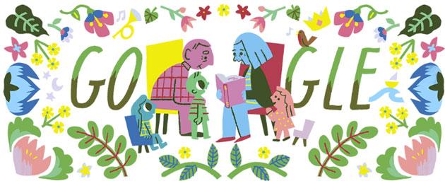 Google Doodle per la Festa dei Nonni il 2 Ottobre 2018