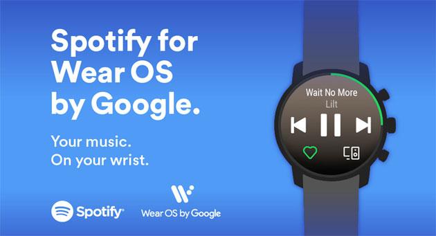 Spotify lancia nuova app per smartwatch Wear OS