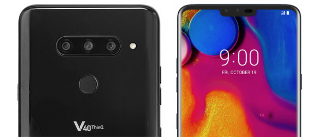 Foto LG V40 ThinQ con 5 fotocamere e display OLED ora in Italia con TIM