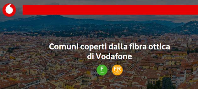 Vodafone Fibra: copertura FTTH e FTTC a Gennaio 2019