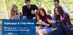 TIM Supergiga e Chat 20GB Mese: fino a 30GB al mese a 10 euro