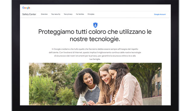 Google lancia nuovo Centro per la sicurezza online
