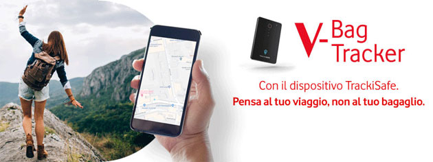 Vodafone V-Bag TrackISafe, tracker GPS per non perdere bagaglio