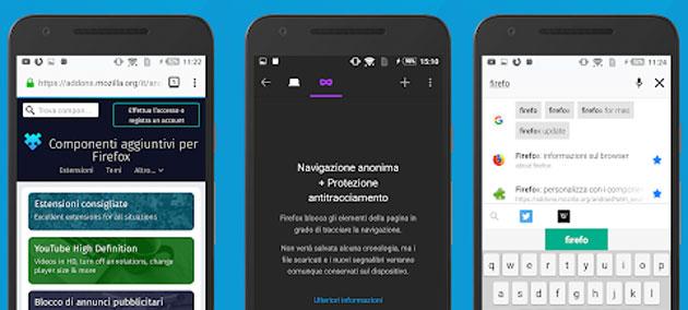 Firefox per Android supporta PiP (picture-in-picture) e canali di notifica