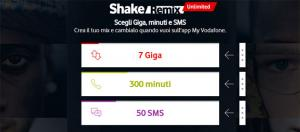 Vodafone Shake Remix Unlimited per Under 30 e Unlimited Junior per i giovani