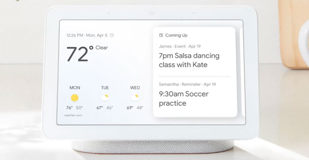 Google Home Hub il primo display Intelligente di Google. Non arriva in Italia