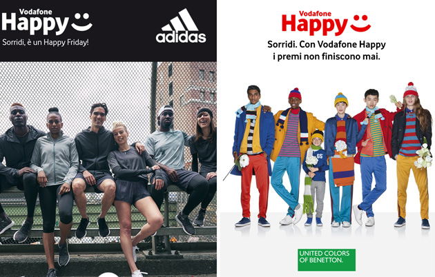 Foto Vodafone Happy Friday il 19 ottobre regala sconto Benetton o Adidas