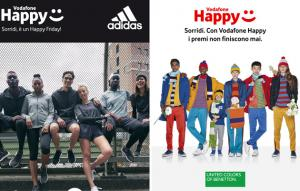 Vodafone Happy Friday il 19 ottobre regala sconto Benetton o Adidas