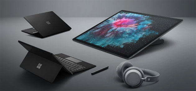 Foto Microsoft Surface Pro 6 e Laptop 2 in Italia. Surface Studio 2 e Headphones non ancora