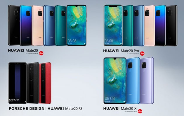 Huawei Mate20, Mate20 Pro, Mate20 X e Mate20 Lite: Specifiche, Foto, Video e Prezzi