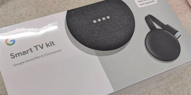 Google Smart TV kit, bundle con speaker Home Mini e Chromecast 2018 in arrivo