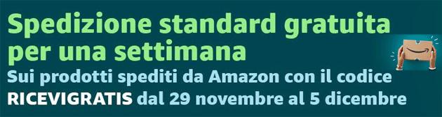 Amazon, spedizione standard gratuita per una settimana: ecco come