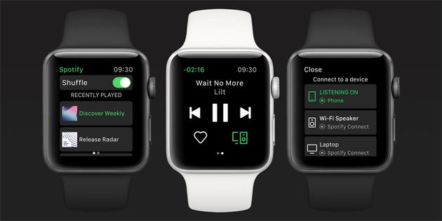 Spotify su Apple Watch, app ufficiale disponibile