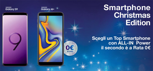 Foto 3 Smartphone Christmas Edition 2018, due telefoni a rate col secondo a 0 euro