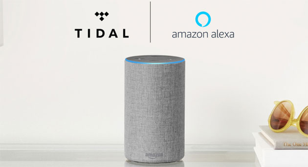 Foto TIDAL su Amazon Echo con Alexa