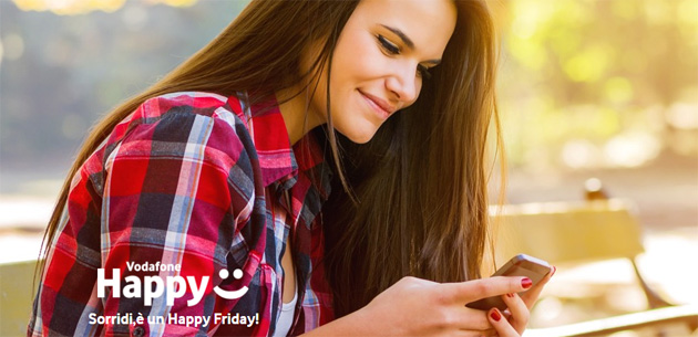 Foto Vodafone Happy Friday oggi 7 maggio regala il primo mese di Happy Black Limited Edition