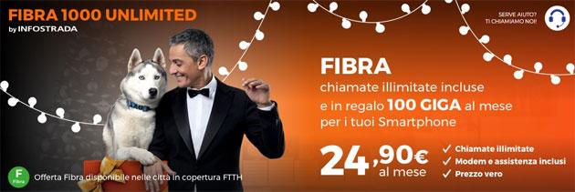 Wind Fibra1000 Unlimited: Internet dentro e fuori casa e chiamate illimitate a 24,90 euro al mese [fino al 3 dicembre]