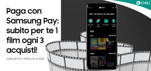 Samsung Pay regala film a noleggio su Chili