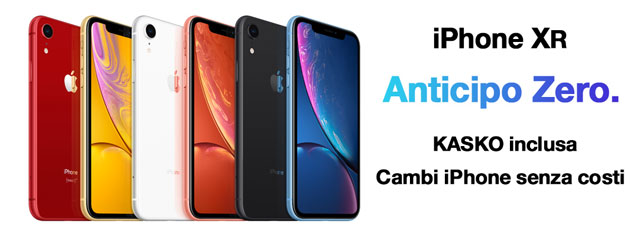 Foto Apple iPhone XR con 3 da anticipo Zero: l'Offerta