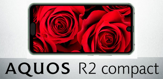 Foto Sharp Aquos R2, smartphone con doppia notch