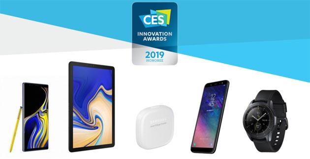 CES 2019 Awards, Samsung Galaxy Watch, Note9, Tab S4 e LG V40 tra i prodotti premiati
