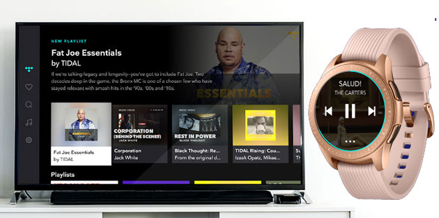 TIDAL su Samsung TV e Wearable con Tizen