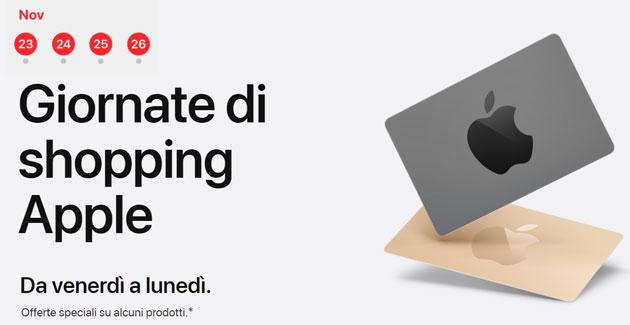 Apple Black Friday 2018: carta regalo fino a 150 euro acquistando determinati prodotti