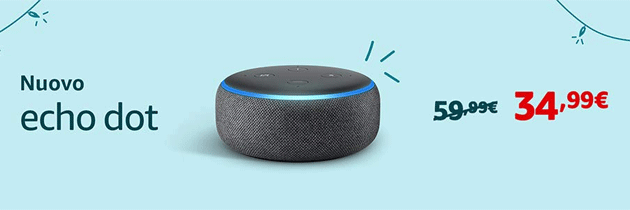 Foto Amazon Echo e Fire in offerta per Black Friday 2018