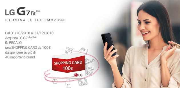 Foto Lg G7 Fit in Italia regala shopping card da 100 euro