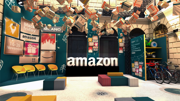 Foto Amazon Loft for Xmas, aperto il primo pop-up store Amazon in Italia, a Milano