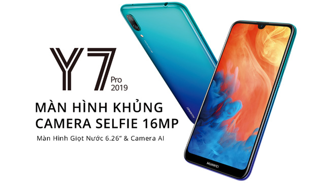 Huawei Y7 Pro (2019) ufficiale con batteria 4000mAh, notch a goccia e dual camera