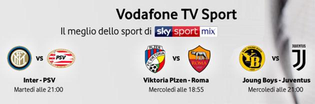 Vodafone TV, elenco partite di Champions League visibili su Sky Sport Mix l'11 e 12 dicembre 2018