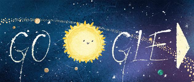 Google doodle per lo Sciame meteorico delle Geminidi 2018